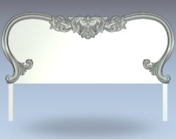 Pattern leather bed frame wood carving file stl for Artcam and Aspire jdpaint free vector art 3d model download for CNC
