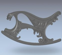 Pattern rocking chair leopard wood carving file stl for Artcam and Aspire jdpaint free vector art 3d model download for CNC