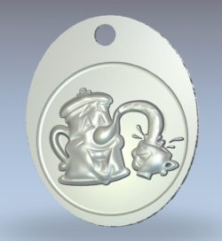 Pot-shaped hanging hook wood carving file stl for Artcam and Aspire jdpaint free vector art 3d model download for CNC