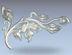 Pumpkin flower pattern wood carving file stl for Artcam and Aspire jdpaint free vector art 3d model download for CNC