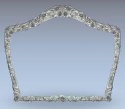 Rose mirror frame wood carving file stl for Artcam and Aspire jdpaint free vector art 3d model download for CNC