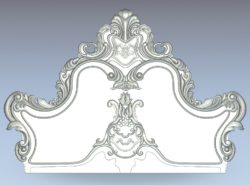 Royal bed frame pattern wood carving file stl for Artcam and Aspire jdpaint free vector art 3d model download for CNC