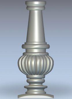 Spherical column wood carving file stl for Artcam and Aspire jdpaint free vector art 3d model download for CNC
