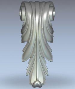 Spiral column head pattern wood carving file stl for Artcam and Aspire jdpaint free vector art 3d model download for CNC