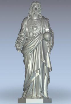 Statue of Jesus wood carving file stl for Artcam and Aspire jdpaint free vector art 3d model download for CNC
