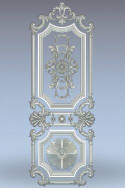 Sunflower-shaped door pattern wood carving file stl for Artcam and Aspire jdpaint free vector art 3d model download for CNC