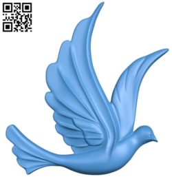 The dove is flying wood carving file stl for Artcam and Aspire jdpaint free vector art 3d model download for CNC