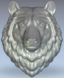 The head of a wild wolf wood carving file stl for Artcam and Aspire jdpaint free vector art 3d model download for CNC