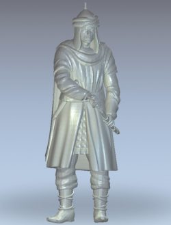 The leader drew the sword wood carving file stl for Artcam and Aspire jdpaint free vector art 3d model download for CNC