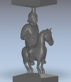 The man is riding the horse wood carving file stl for Artcam and Aspire jdpaint free vector art 3d model download for CNC
