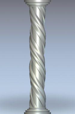 Twisted column wood carving file stl for Artcam and Aspire jdpaint free vector art 3d model download for CNC