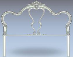 Vintage bedside frame pattern wood carving file stl for Artcam and Aspire jdpaint free vector art 3d model download for CNC