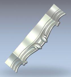 Wavy horizontal bars wood carving file stl for Artcam and Aspire jdpaint free vector art 3d model download for CNC