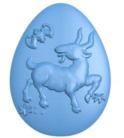 A goat-shaped egg A002718 wood carving file stl for Artcam and Aspire jdpaint free vector art 3d model download for CNC