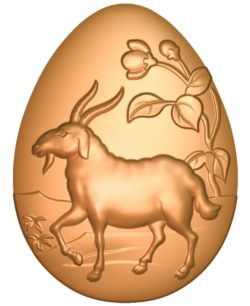A goat-shaped egg A002723 wood carving file stl for Artcam and Aspire jdpaint free vector art 3d model download for CNC
