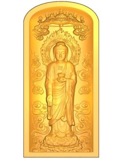 Buddha A002639 wood carving file stl for Artcam and Aspire jdpaint free vector art 3d model download for CNC