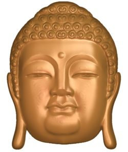 Buddha head A002641 wood carving file stl for Artcam and Aspire jdpaint free vector art 3d model download for CNC