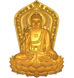 Buddhism Buddha A002558 wood carving file stl for Artcam and Aspire jdpaint free vector art 3d model download for CNC