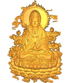 Buddhism Quan Yin A002554 wood carving file stl for Artcam and Aspire jdpaint free vector art 3d model download for CNC