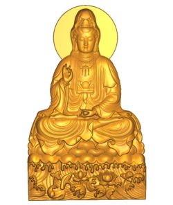 Buddhism Quan Yin A002557 wood carving file stl for Artcam and Aspire jdpaint free vector art 3d model download for CNC