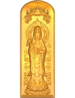 Buddhism Quan Yin A002638 wood carving file stl for Artcam and Aspire jdpaint free vector art 3d model download for CNC