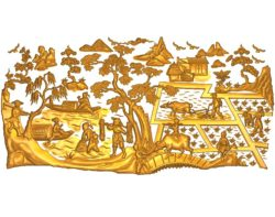 Countryside landscape A002495 wood carving file stl for Artcam and Aspire jdpaint free vector art 3d model download for CNC