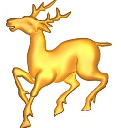 Deer A002553 wood carving file stl for Artcam and Aspire jdpaint free vector art 3d model download for CNC