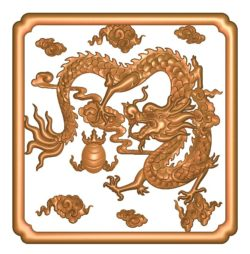 Dragon picture A002713 wood carving file stl for Artcam and Aspire jdpaint free vector art 3d model download for CNC