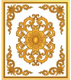 Form of fan door A002387 wood carving file stl for Artcam and Aspire jdpaint free vector art 3d model download for CNC