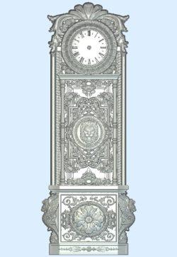 Lion tree clock wood carving file stl for Artcam and Aspire jdpaint free vector art 3d model download for CNC
