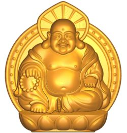Maitreya Buddha A002634 wood carving file stl for Artcam and Aspire jdpaint free vector art 3d model download for CNC