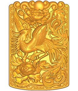 Phoenix pattern A002576 wood carving file stl for Artcam and Aspire jdpaint free vector art 3d model download for CNC