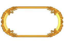 Room number plate frame A002506 wood carving file stl for Artcam and Aspire jdpaint free vector art 3d model download for CNC