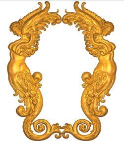 Room number plate frame A002522 wood carving file stl for Artcam and Aspire jdpaint free vector art 3d model download for CNC