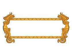 Room number plate frame A002523 wood carving file stl for Artcam and Aspire jdpaint free vector art 3d model download for CNC