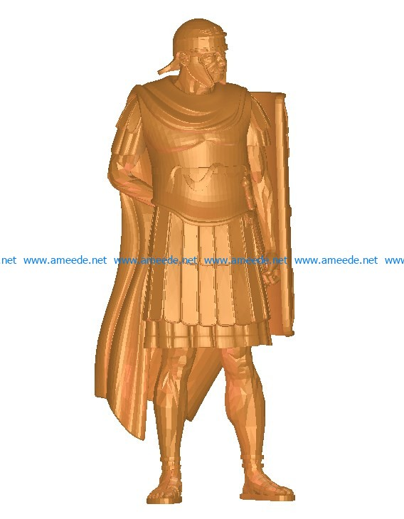 Soldier holding square shield B002738 file stl free download 3D Model for CNC and 3d printer
