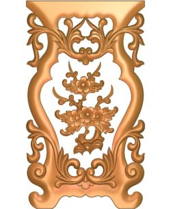 Table and chair pattern apricot tree A002674 wood carving file stl for Artcam and Aspire jdpaint free vector art 3d model download for CNC