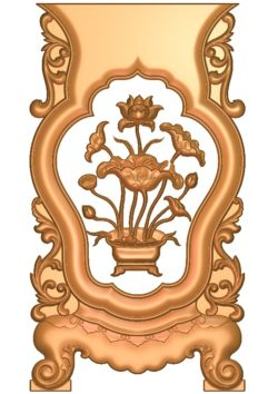 Table and chair pattern Lotus A002687 wood carving file stl for Artcam and Aspire jdpaint free vector art 3d model download for CNC