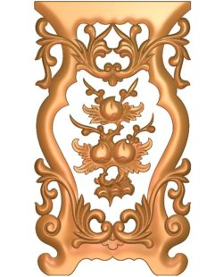 Table and chair pattern peach tree A002672 wood carving file stl for Artcam and Aspire jdpaint free vector art 3d model download for CNC