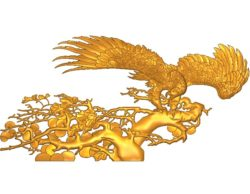 The picture of an eagle spreading its wings A002564 wood carving file stl for Artcam and Aspire jdpaint free vector art 3d model download for CNC