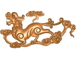 Unicorn A002707 wood carving file stl for Artcam and Aspire jdpaint free vector art 3d model download for CNC