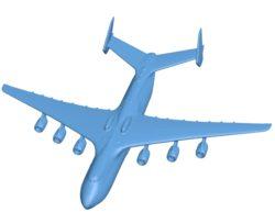 Aircraft An-225 Mriya B003016 file stl free download 3D Model for CNC and 3d printer