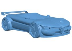 Car Alfa Romeo concept B002856 file stl free download 3D Model for CNC and 3d printer