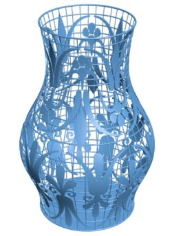 Amazing vase B002858 file stl free download 3D Model for CNC and 3d printer