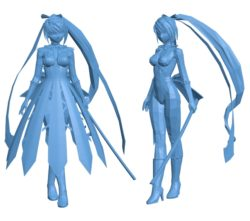 Anime girls B003019 file stl free download 3D Model for CNC and 3d printer