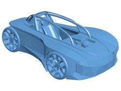 Audi Fantasy car B003012 file stl free download 3D Model for CNC and 3d printer