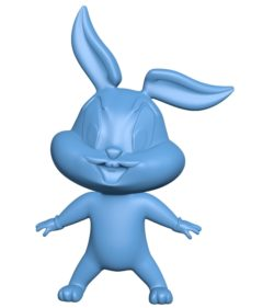 Baby Bugs Bunny B003549 file stl free download 3D Model for CNC and 3d