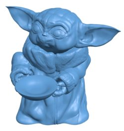 Baby Yoda With soup B003471 file stl free download 3D Model for CNC and 3d printer
