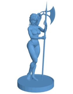 Barbarian woman B003559 file stl free download 3D Model for CNC and 3d
