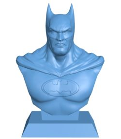 Batman Bust B003105 file stl free download 3D Model for CNC and 3d printer